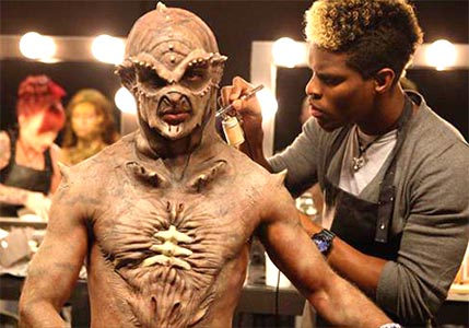 Film Monster Getting Made Up